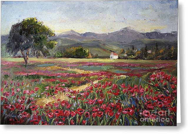 California Art Greeting Cards - Dance of the Tulips Greeting Card by Jennifer Beaudet