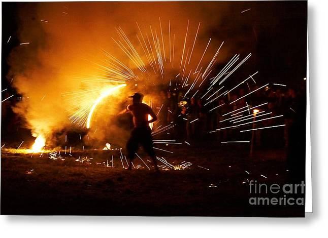 Dance On Fire Greeting Card by Jaroslaw Blaminsky