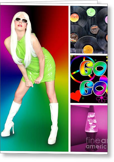 1960 Greeting Cards - Dance series - Go Go Greeting Card by Linda Lees