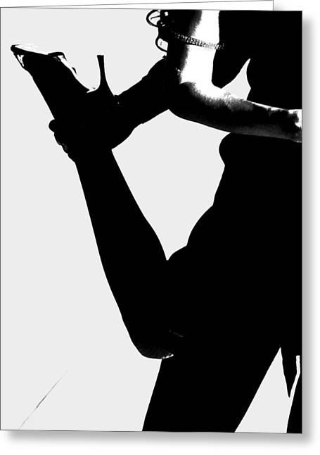 Dance Silhouette Greeting Card by Doug Walker