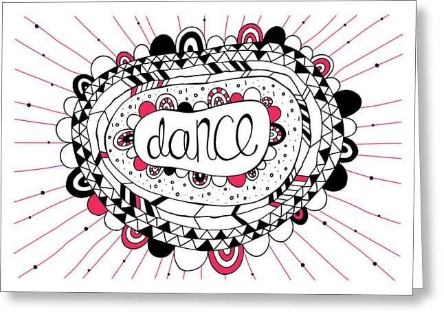 Abstract Shapes Greeting Cards - Dance Greeting Card by Susan Claire
