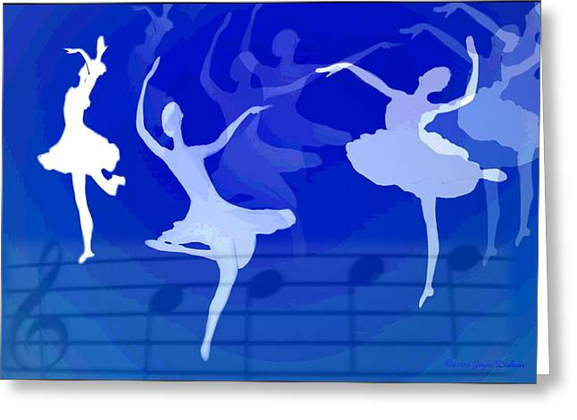 Numbers Plus Photography Greeting Cards - Dance The Blues Away Greeting Card by Joyce Dickens