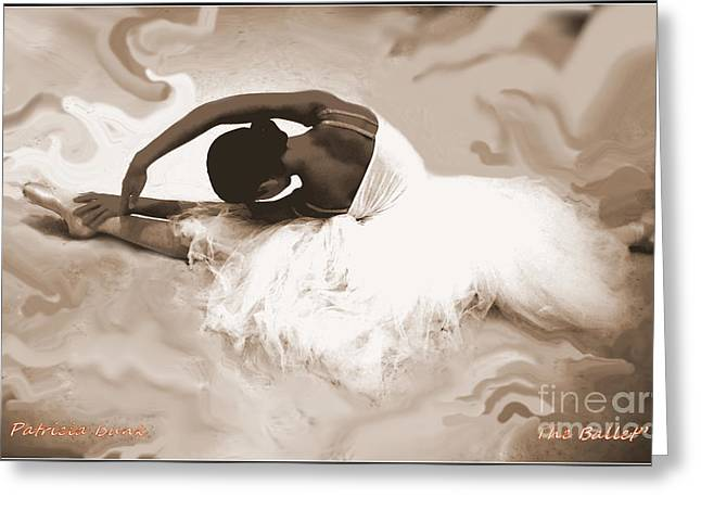 Improvisational Greeting Cards - Dance The Clouds Greeting Card by Patricia Bunk