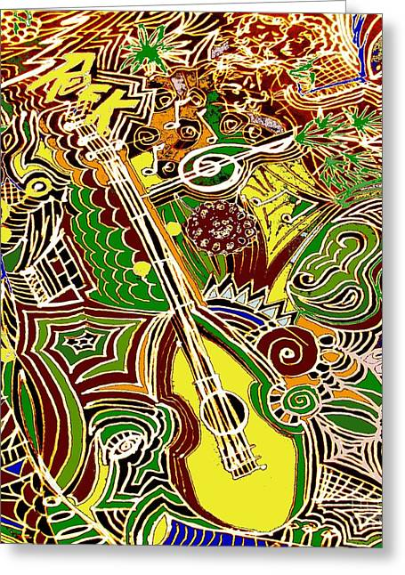 Shimmy Greeting Cards - Dance to the Music Greeting Card by Rhonda Lee