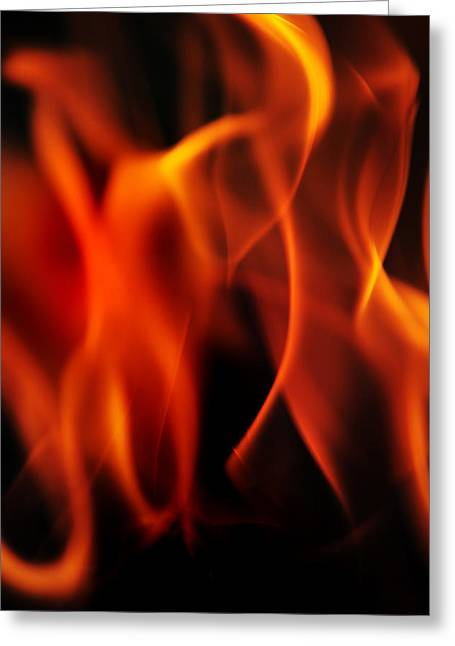 Book Cover Art Greeting Cards - Dance with Flame 2 Greeting Card by Jenny Rainbow