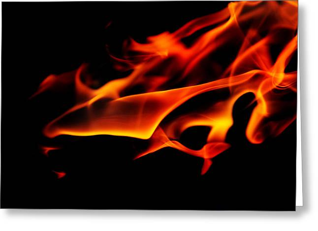 Live Art Greeting Cards - Dance with Flame 7 Greeting Card by Jenny Rainbow