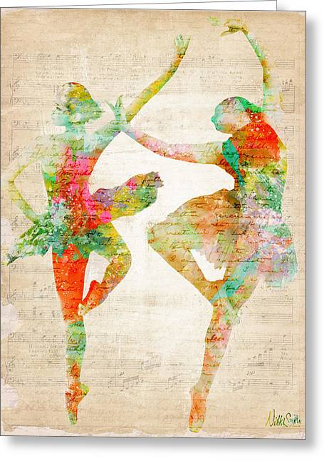Ballet Art Greeting Cards - Dance With Me Greeting Card by Nikki Marie Smith