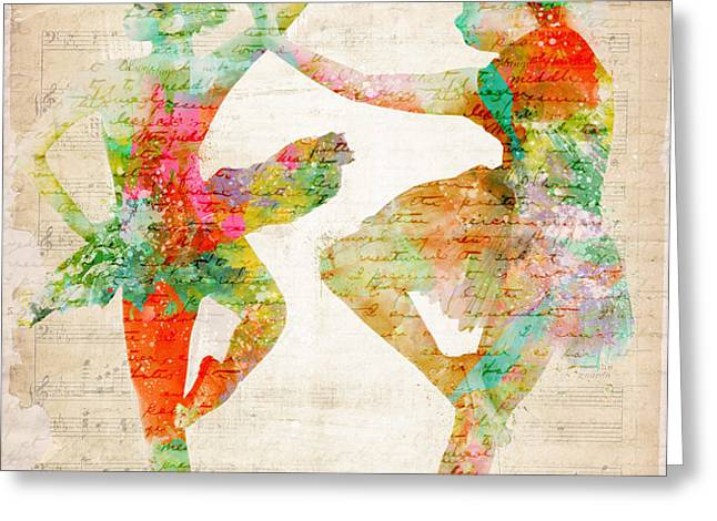 Dance With Me Greeting Card by Nikki Marie Smith