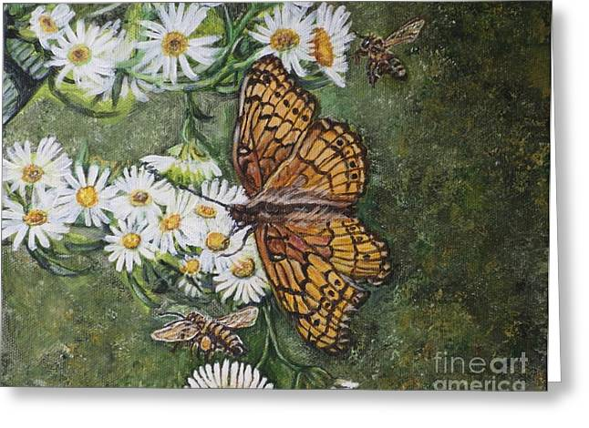 Cooperation Greeting Cards - Dance with the Daisies Greeting Card by Kimberlee  Baxter