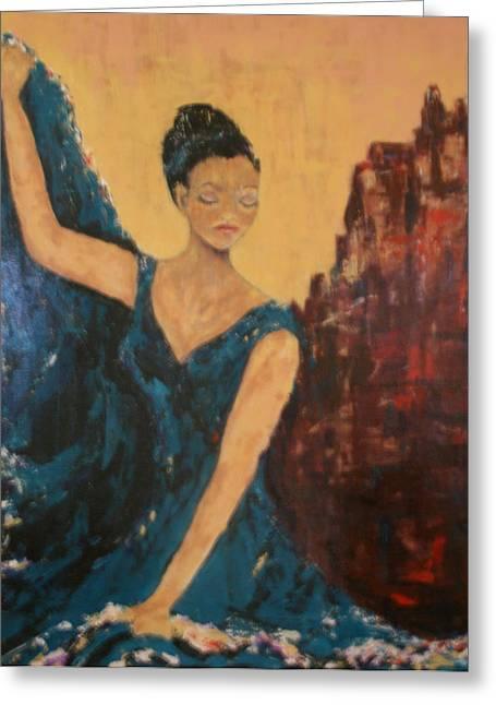 Kpl Greeting Cards - Dance With Your Soul Greeting Card by Kathy Peltomaa Lewis