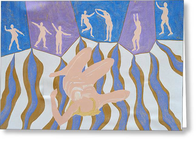 Divorce Greeting Cards - Danced Greeting Card by Erika Chamberlin