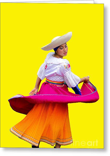 Christmas Eve Greeting Cards - Dancer at Pase Del Nino in Cuenca Ecuador Greeting Card by Al Bourassa