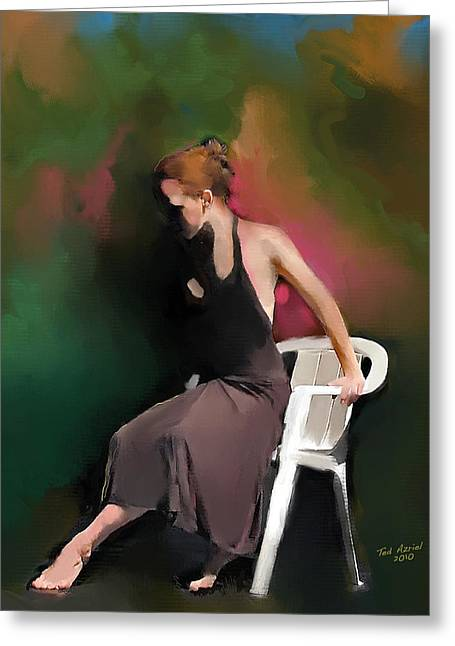Nature Study Digital Art Greeting Cards - Dancer At Rest Greeting Card by Ted Azriel