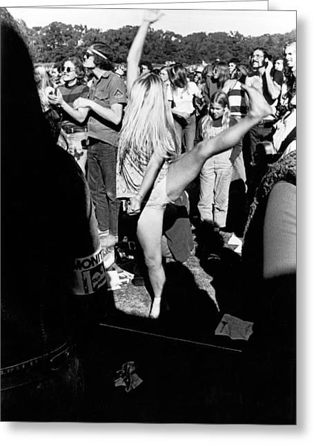 Dancer At Vietnam War Protest Greeting Card by Underwood Archives Adler