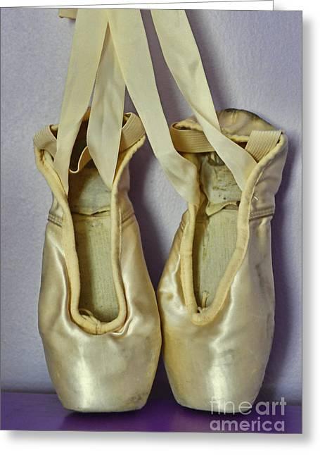 Dance Shoes Greeting Cards - Dancer - Ballet Pointe Shoes Greeting Card by Paul Ward