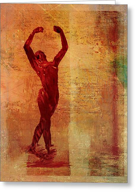 Ballet Dancers Greeting Cards - Dancer Greeting Card by David Ridley