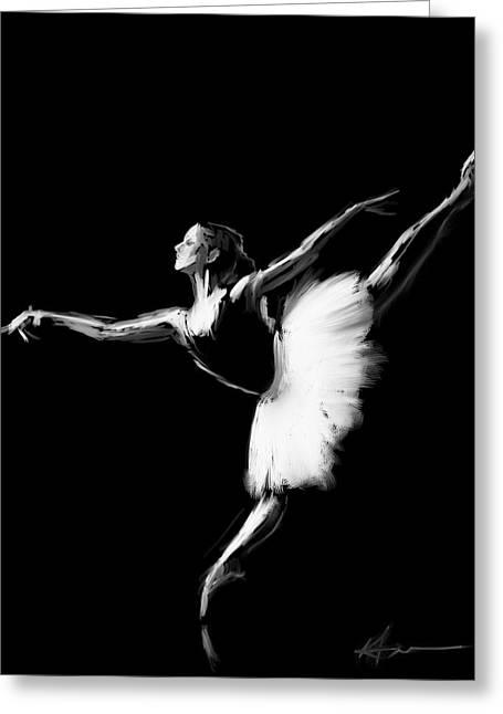 Dancer Greeting Card by H James Hoff