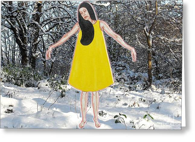 Dancer In The Snow Greeting Card by Patrick J Murphy