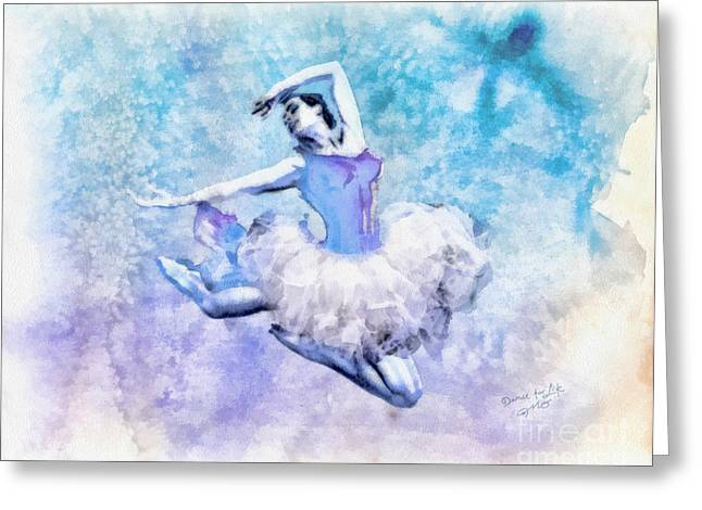 Mo Artist Paintings Greeting Cards - Dancer Greeting Card by Mo T