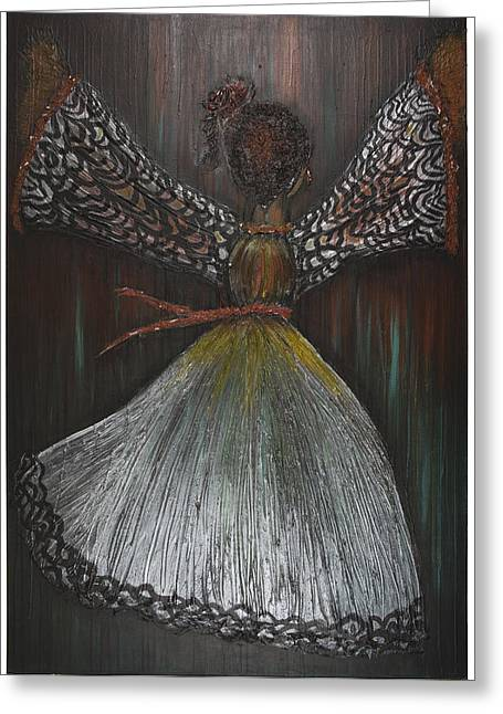 Dancer Greeting Card by Nia Jacob