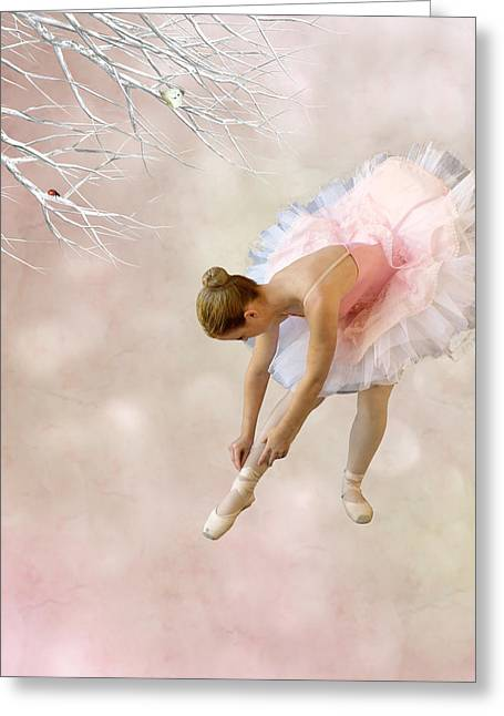 Ballet Dancers Mixed Media Greeting Cards - Dancer Greeting Card by Sharon Lisa Clarke