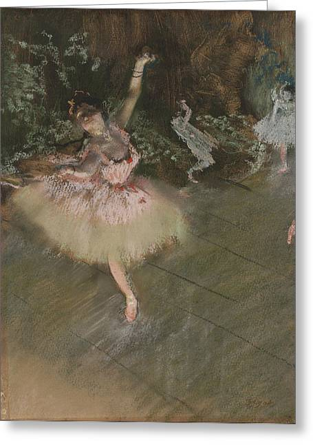 Old Masters Greeting Cards - Dancer Taking a Bow  Greeting Card by Nomad Art And  Design
