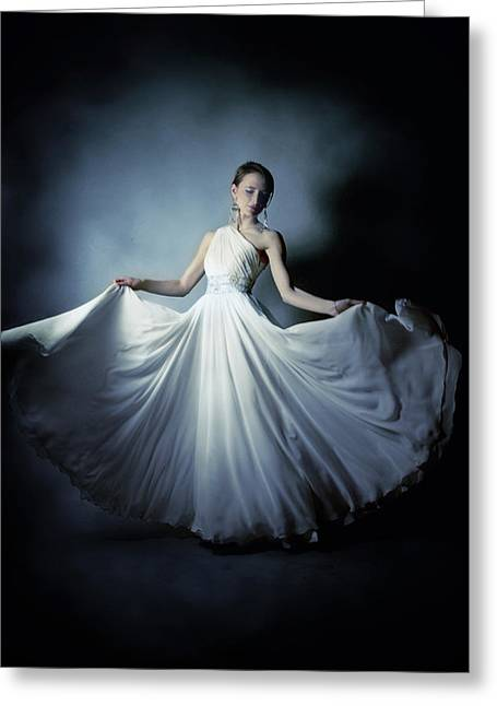 Bridal Gown Greeting Cards - Dancer Greeting Card by Wojciech Zwolinski