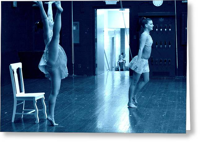 Jon Van Gilder Greeting Cards - Dancers And Little Watchers Greeting Card by Jon Van Gilder