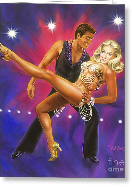 Ballroom Greeting Cards - Dancers Fantasy Greeting Card by Dick Bobnick