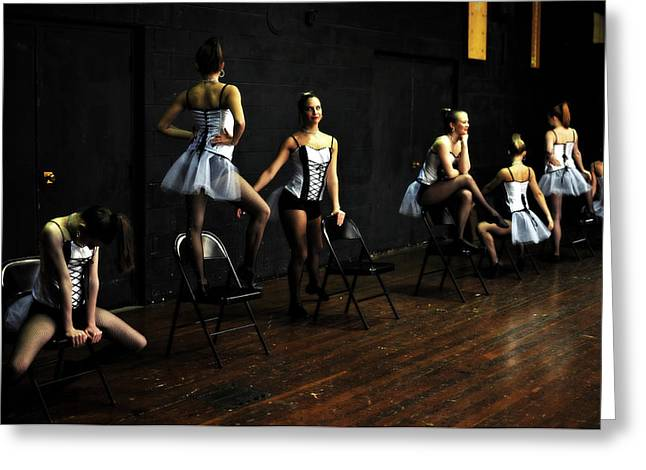 Jon Van Gilder Greeting Cards - Dancers On Stage Greeting Card by Jon Van Gilder