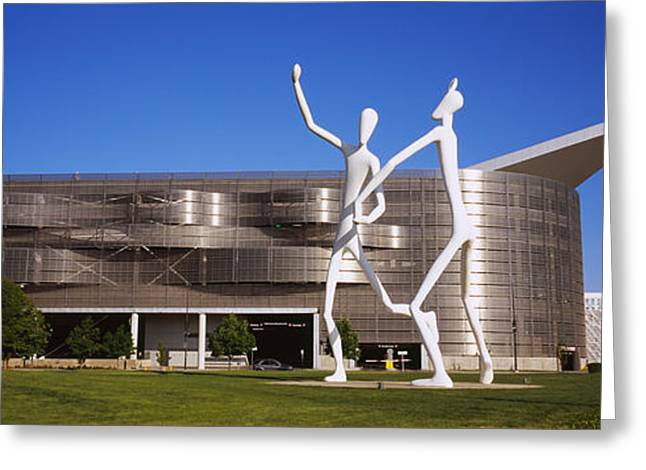Convention Center Greeting Cards - Dancers Sculpture By Jonathan Borofsky Greeting Card by Panoramic Images