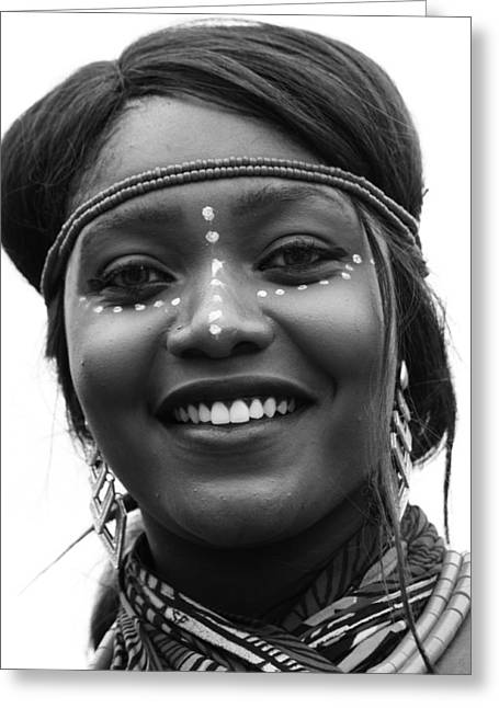 African Heritage Greeting Cards - Dancers Smile Greeting Card by Jerry Cordeiro