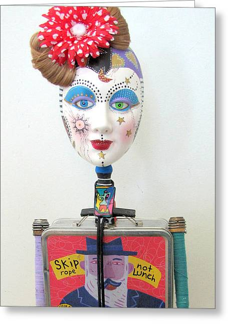 Sculpey Greeting Cards - Dances To Her Own Beat Greeting Card by Keri Joy Colestock