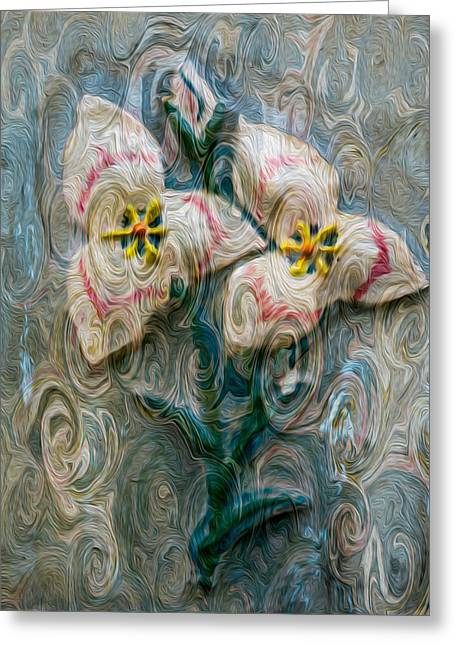 Okanogan National Forest Mixed Media Greeting Cards - Dances with Flowers Greeting Card by Omaste Witkowski