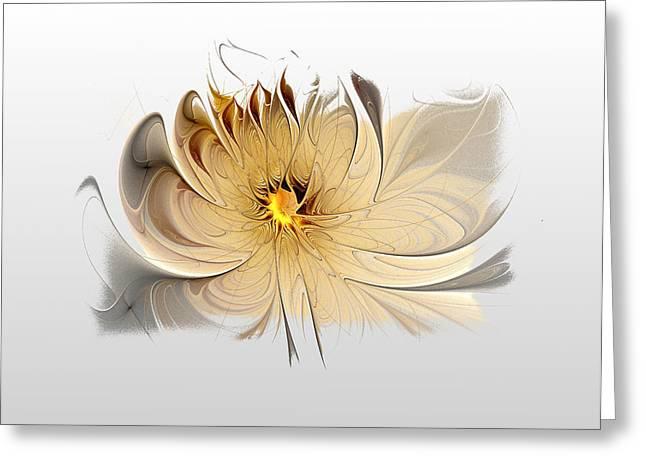 Floral Digital Art Digital Art Greeting Cards - Dancing Greeting Card by Amanda Moore