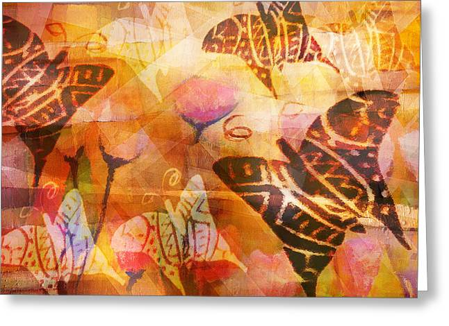 Abstract Butterfly Greeting Cards - Dancing Butterflies Greeting Card by Lutz Baar