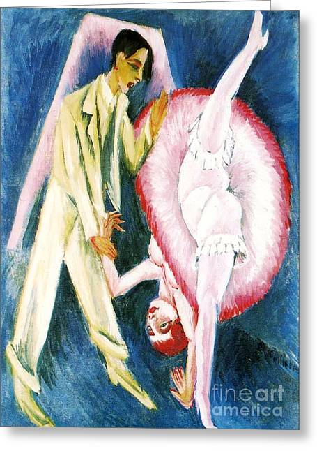 High Stepping Greeting Cards - Dancing Couple Greeting Card by Pg Reproductions