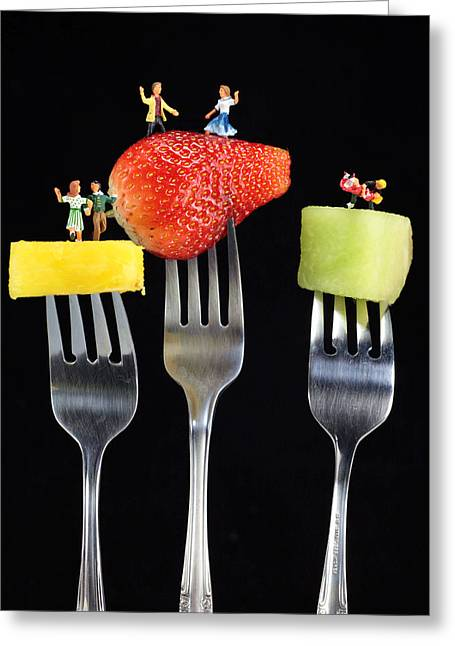 Melon Digital Greeting Cards - Dancing Dancing Dancing Greeting Card by Paul Ge