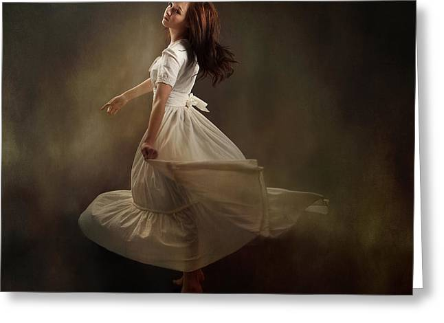 Daydream Greeting Cards - Dancing Dream Greeting Card by Cindy Singleton