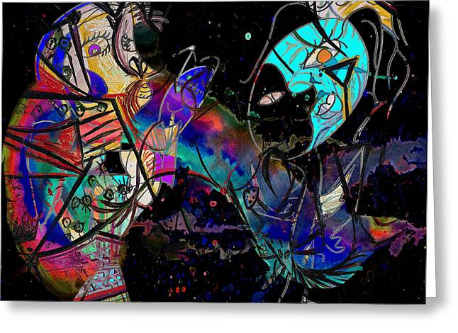 Mix Medium Greeting Cards - Dancing Dreams  Greeting Card by Jerry Cordeiro