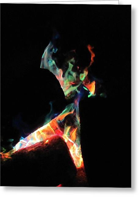Kerry Lapcevich Greeting Cards - Dancing Flames Greeting Card by Kerry Lapcevich