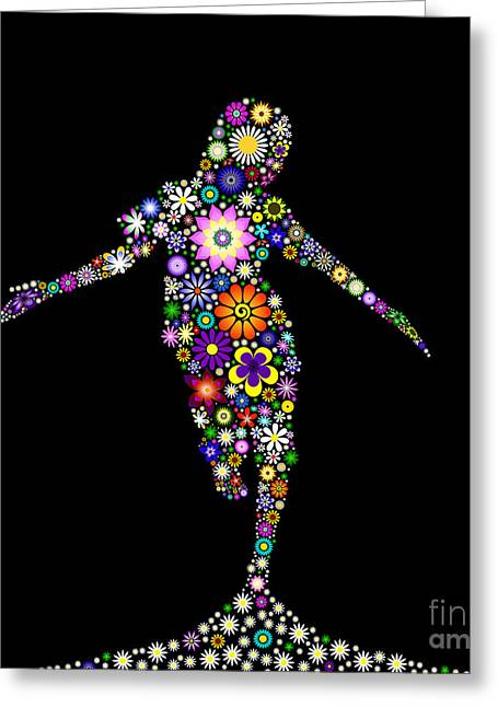 Innocence Greeting Cards - Dancing Flower Girl  Greeting Card by Tim Gainey