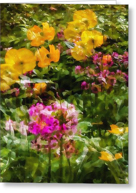 The Glade Greeting Cards - Dancing Flowers Greeting Card by Marion McCristall