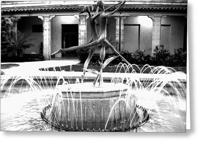 Dancing Fountain Greeting Card by Leia Sopicki