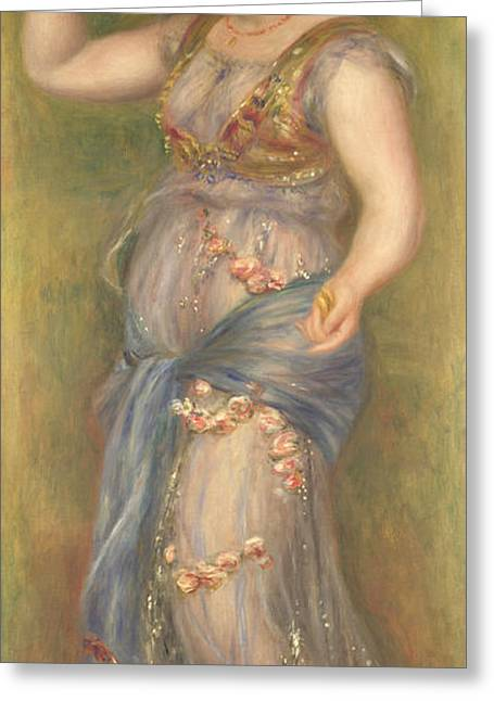 Dancing Girl Greeting Cards - Dancing Girl with Castanets Greeting Card by Pierre-Auguste Renoir