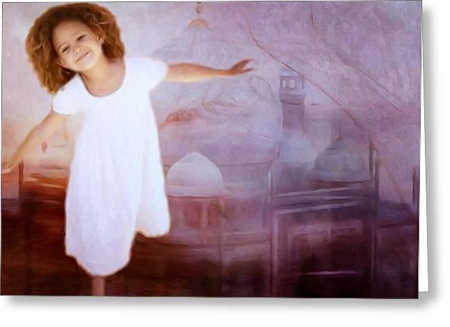 Dancing in a fairy tale Greeting Card by Gun Legler