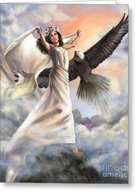 Biblical Art Greeting Cards - Dancing in Glory Greeting Card by Tamer and Cindy Elsharouni