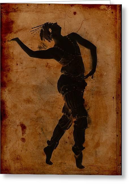 Dancing In Greek Greeting Card by Sarah Vernon