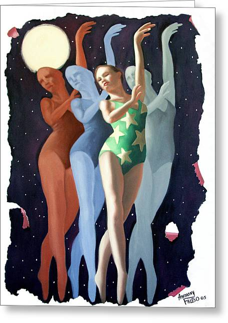Dance Greeting Cards - Dancing In The Moonlight Greeting Card by Anthony Falbo