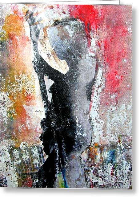 Thin Paintings Greeting Cards - Dancing In The Moonlight Greeting Card by Bri Buckley